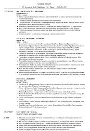 Principal Architect Sample Resume Principal Architect Resume Samples Velvet Jobs 1