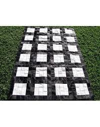patchwork cowhide rugs black white grid cowhide patchwork rug x021 faux fur