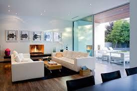 ... Interior Design, Interior Fantastic Interior Designs Livingroom Wooden  Laminate Floor Cool White Comfy Fabrics Sofa ...