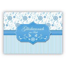 Hellblaue Edle Grußkarte Taufkarte Als Glückwunsch Zur Taufe Eines