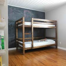 Making bunk beds Wood Bunk Come See How We Built Simple Diy Bunk Bed For Our Kids Bedroom Dwellinggawker Pinterest Bunk Beds Bed And Room Pinterest Come See How We Built Simple Diy Bunk Bed For Our Kids Bedroom