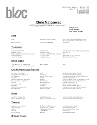 Gallery Of Resume Audition Example Dance Resume Example Free