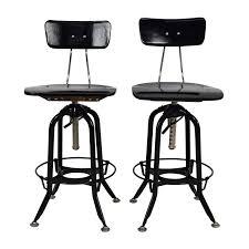 restoration hardware vintage toledo bar chair pair restoration hardware