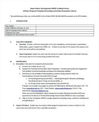 Product Design Proposal Template Industrial Example