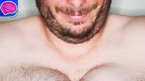 Men growing big breast