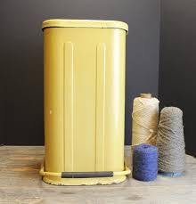 fullsize of ideal vintage yellow g step up trashcan retro step trash can retro kitchen trash