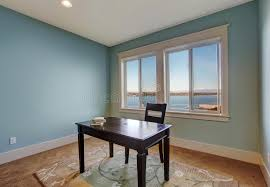 office room. Download Simple Office Room In Light Blue Color Stock Image - Of American, Empty