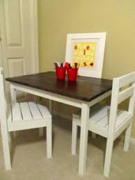 diy kid s table and chair see more alex s art table chairs do it yourself home projects from