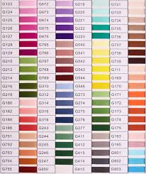 Embroidery Chart Embroidery Thread Color Chart
