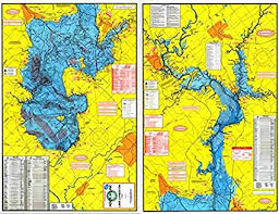 Topographical Fishing Map Of Lake Livingston With Gps Hotspots