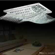 modern square crystal lights k9 crystal chandelier ceiling lamp with light sources for living room led home lighting crystal led light k9 crystal chandelier