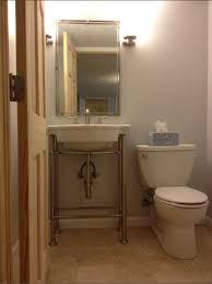 basement bathroom powder room mdbs basement blog throughout american standard console sink renovation