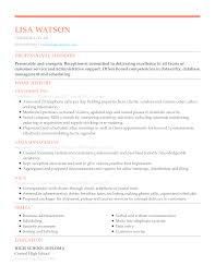 Executive Style Resume Template Resume Chronological Executive Receptionist Unforgettable