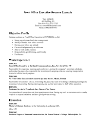 cal office front desk resume sample objective profile include work experience in executive cartland munications