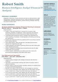Business Intelligence Analyst Resume Beauteous Business Intelligence Analyst Resume Samples QwikResume