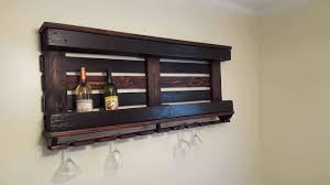 pallet wall wine rack. Wine Rack With One Pallet Repurposed Wood 1001 Pallets Wall