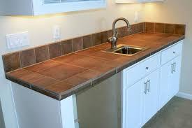 glass tile kitchen countertop