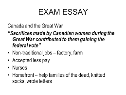 exam essay ppt exam essay and the great war