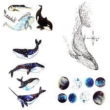 105x6 см геометрическая симпатичные дельфин временные татуировки звездное