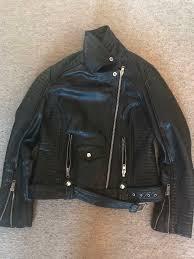 barneys original black leather las jacket 14