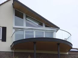 glass railing with panels outdoor for patios