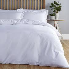 plain white duvet cover. Exellent Cover Easycare Plain Dye 100 Cotton White Duvet Cover With R
