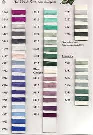 Soie D Alger Colour Chart Au Ver A Soie Soie Dalger Color Card Stitch Colours