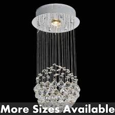 crystal pendant lighting. Picture Of Sphere Modern Crystal Chandelier Small Mirror Stainless Steel Base 1 Light Pendant Lighting