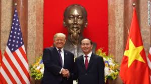 Image result for Images of Trump in Hanoi