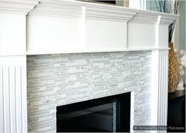 ceramic tile fireplace surround pictures marble subway mosaic stone