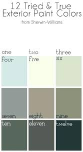 Sherwin Williams Exterior Paint Colors Chart