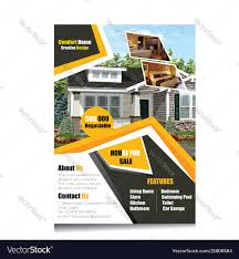 Real Estate Flyers Templates Royalty Free Vector Image