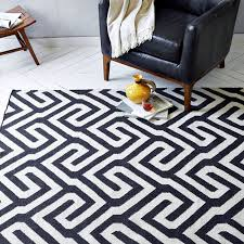 boom bust monochrome graphic rug black and white geometric rug
