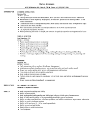 Sorter Resume Samples Velvet Jobs