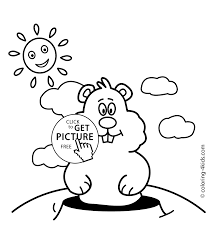 Small Picture Groundhog Day coloring pages for kids 2 february printable free