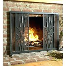 sliding fireplace screen fireplace screen and doors sliding fireplace screen cattail fire screen with sliding doors