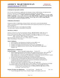 9 Sql Developer Resume Write Memorandum