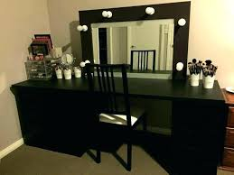 black makeup vanity table makeup vanity table with lighted mirror set large size of black corner