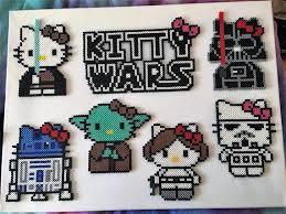 Star Wars Perler Bead Patterns Delectable Star Wars Kitty Wars Perler Bead Art Etsy