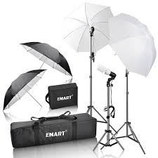 com emart 600w photography photo portrait studio day light umbrella continuous lighting kit photo