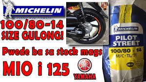 Michelin Tyre Size Chart Michelin Tire Size 100 80 14 On Mio I 125 Stock Mags