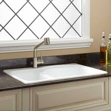 white drop in kitchen sink images fascinating bathroom cast iron porcelain enameled steel pict of also beautiful color ideas rustic leaf 2018