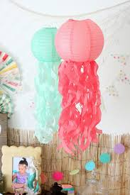 mermaid party ideas diy jellyfish paper lanterns via elevate everyday