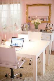 pink home office. girly feminine pink home office desk