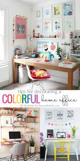 colorful office decor. Tips For Decorating A Colorful Home Office @Remodelaholic Decor T