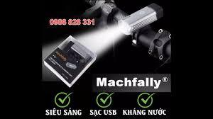 Đèn pha sạc usb Machfally siêu sáng cho Xe đạp