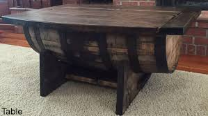 Oak Whiskey Barrel Coffee Table Crate And Pub Wooden Reclaimed Wine Barrels  Bar Table Crate And