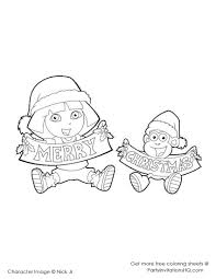 Dora S For Merry Coloring Pages