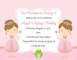 princess birthday invitations templates invitations ideas party invitations twin princess birthday invitations