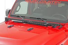 Wrangler Jl Light Bar 127cm Cree Led Light Bar Single Row Black Series Rough Country Jeep Wrangler Jl